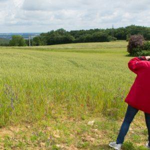 petit groupe pour notre cours photo de paysages dans la région de lyon